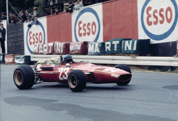 1968 Belgian Grand Prix.Spa-Francorchamps, Belgium.7-9 June 1968.Jacky Ickx (Ferrari 312) 3rd position.Ref-68 BEL 17.World Copyright - LAT Photographic