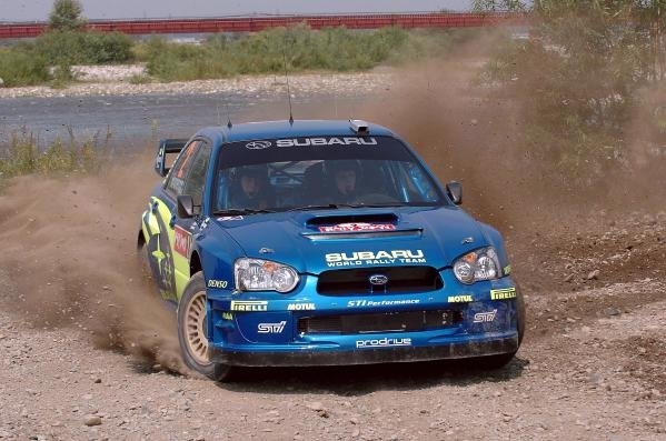Mikko Hirvonen (FIN) / Jarmo Lehtinen (FIN) Subaru Impreza WRC 2004 on the shakedown stage.World Rally Championship, Rd11, Rally of Japan, Shakedown, Obihiro, Hokkaido, Japan, 2 September2004.DIGITAL IMAGE