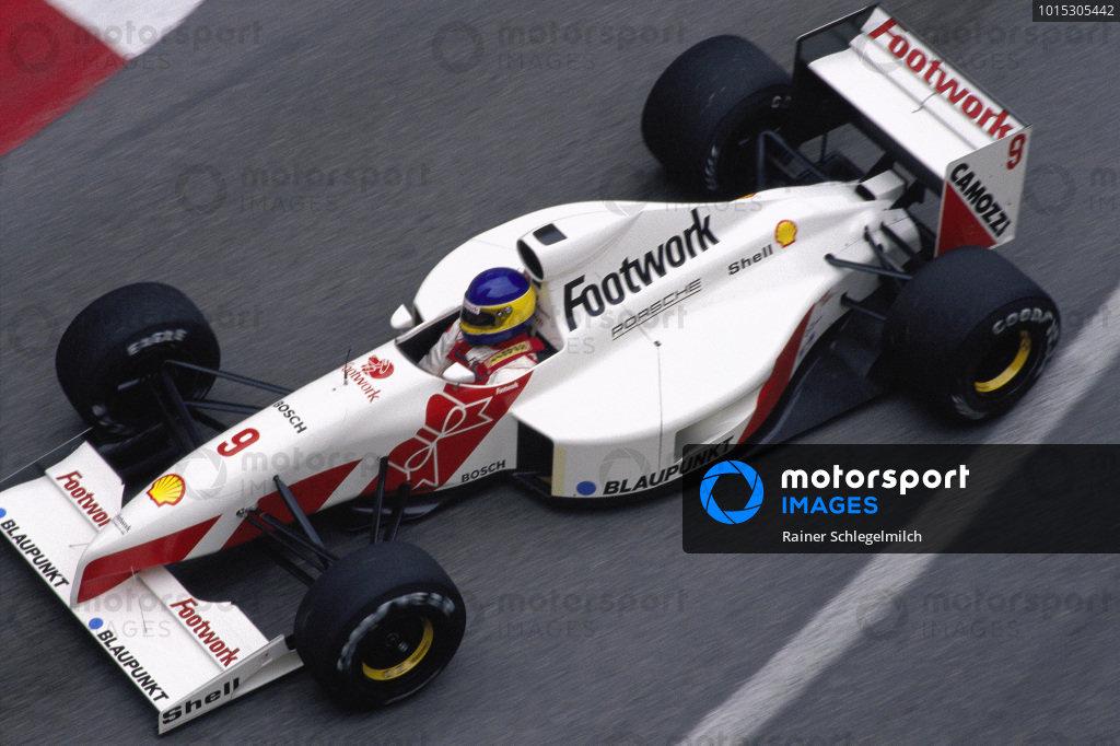 Michele Alboreto, Footwork FA12 Porsche.