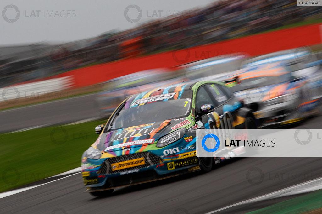 2016 British Touring Car Championship, Silverstone, 17th-18th September 2016, Mat Jackson (GBR) Motorbase Performance Ford Focus  World Copyright. Jakob Ebrey/LAT Photographic.