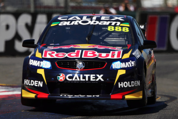 2014 V8 Supercar Championship. Round 1. Clipsal 500, Adelaide. 3rd March 2014. Sunday Race 2 .  Craig Lowndes drives the #888 Red Bull Racing Australia Holden Action.  World Copyright: Daniel Kalisz/LAT Photographic Ref: Digital Image040314DKIMG0007.JPG