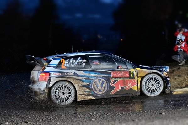 www.sutton-images.com -  Jari-Matti Latvala (FIN) / Miikka Anttila (FIN), Volkswagen Polo R WRC at the FIA World Rally Championship, Rd1, Rally Monte Carlo, Opening Stages, Monte Carlo, 22 January 2015. Photo Sutton Images
