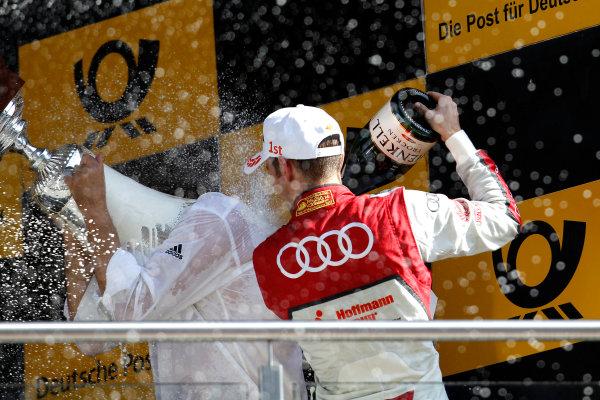 2017 DTM Round 2 Lausitzring, Germany. Sunday 21 May 2017. Podium: Jamie Green, Audi Sport Team Rosberg, Audi RS 5 DTM World Copyright: Alexander Trienitz/LAT Images ref: Digital Image 2017-DTM-R2-ESL-AT1-4735