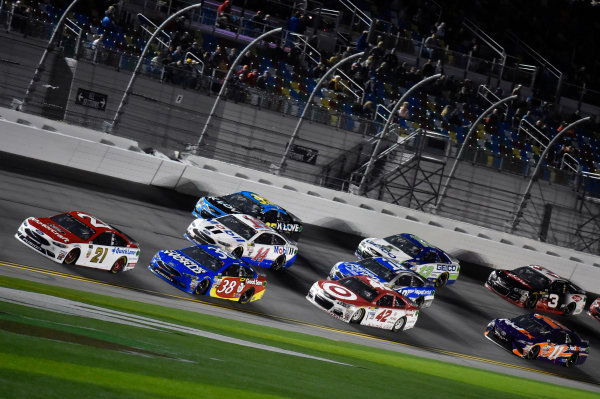 2017 NASCAR Monster Energy Cup - Can-Am Duels Daytona International Speedway, Daytona Beach, FL USA Thursday 23 February 2017 Ryan Blaney and David Ragan World Copyright: Nigel Kinrade/LAT Images ref: Digital Image 17DAY2nk07291