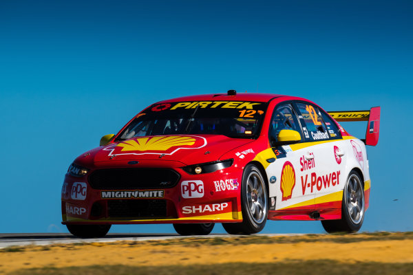 2017 Supercars Championship Round 4.  Perth SuperSprint, Barbagallo Raceway, Western Australia, Australia. Friday May 5th to Sunday May 7th 2017. Fabian Coulthard drives the #12 Shell V-Power Racing Team Ford Falcon FGX. World Copyright: Daniel Kalisz/LAT Images Ref: Digital Image 050517_VASCR4_DKIMG_0777.JPG