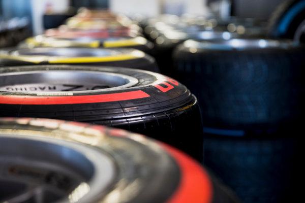 2017 FIA Formula 2 Round 3. Monte Carlo, Monaco. Wednesday 24 May 2017. Pirelli tyres. Photo: Zak Mauger/FIA Formula 2. ref: Digital Image _54I4629