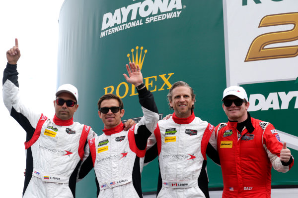2017 Rolex 24 Hours. Daytona, Florida, USA Saturday 28 January 2017. #88 Starworks Motorsport ORECA FLM09: Scott Mayer, James Dayson, Alex Popow, Sebastian Saavedra, Conor Daly World Copyright: Alexander Trienitz/LAT Images ref: Digital Image 2017-24h-Daytona-AT1-3117