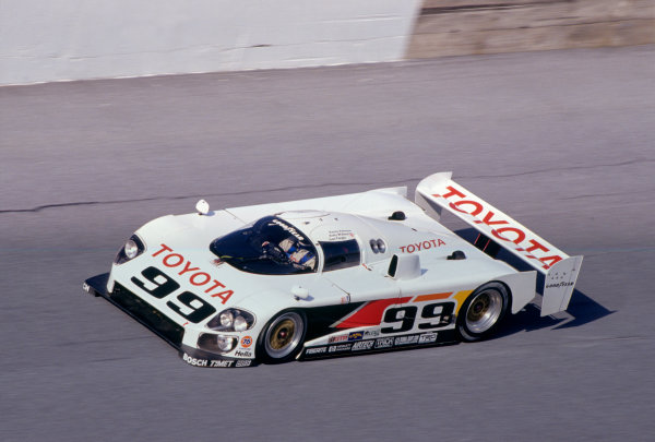 Daytona 24 hours, Florida, USA. 1st - 2nd February 1992.Juan-Manuel Fangio II/Andy Wallace/Kenny Acheson (Eagle MkIII Toyota), 11th position, action. World Copyright: LAT PhotographicRef: 92IMSADAY08