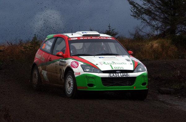 2002 World Rally Championship.Network Q Rally of Great Britain, Cardiff. November 14-17. Mark Higgins during shakedown.Photo: Ralph Hardwick/LAT