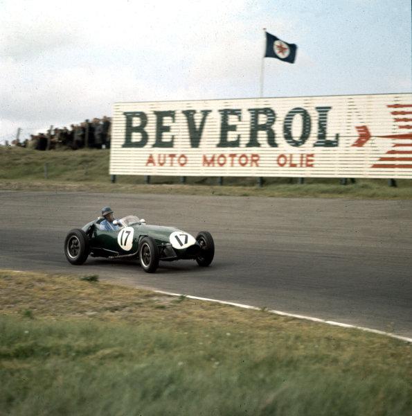 1958 Dutch Grand Prix.Zandvoort, Holland.23-25 May 1958.Cliff Allison (Lotus 12-Climax) 6th position.Ref-3/0024.World Copyright - LAT Photographic