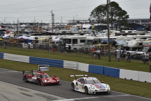 #911 Porsche GT Team Porsche 911 RSR, GTLM: Patrick Pilet, Nick Tandy, Frederic Makowiecki, #31 Whelen Engineering Racing Cadillac DPi, DPi: Felipe Nasr, Pipo Derani, Eric Curran