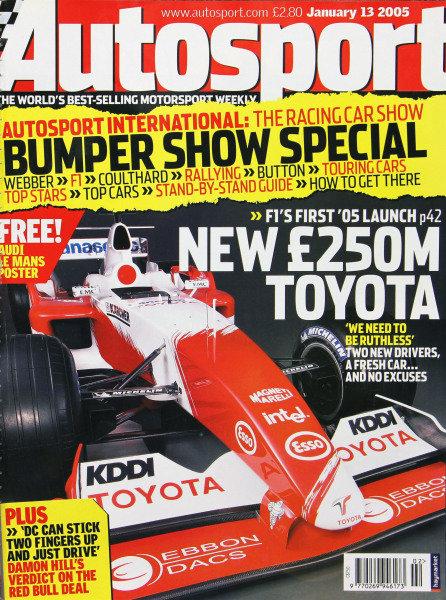 Cover of Autosport magazine, 13th January 2005