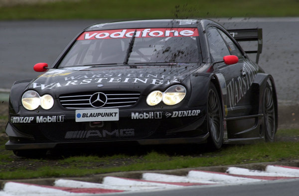 2002 DTM Championship Nurburgring, Germany. 2th - 4th August 2002. Race winner Uwe Alzen (Mercedes CLK-DTM) cuts the chicane.World Copyright: Andre Irlmeier/LAT Photographic
