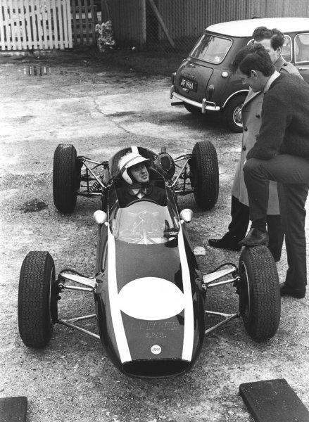 1964 Formula 3Jackie Stewart in Cooper F3 car.World Copyright - LAT Photographicref: 11001/A*24A