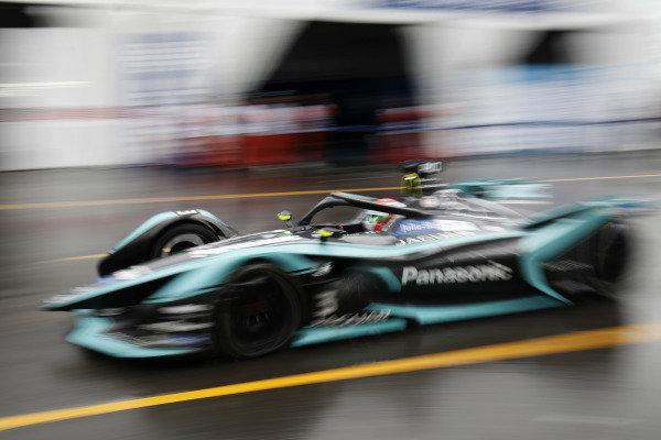 Nelson Piquet Jr. (BRA), Panasonic Jaguar Racing, Jaguar I-Type 3 exits the pit lane