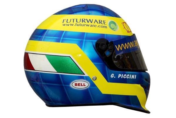 The helmet of Giacomo Piccini (ITA) Imola Racing.International Formula Three, Marlboro Masters of Formula 3, Zandvoort, Holland, 8-10 August 2003.DIGITAL IMAGE