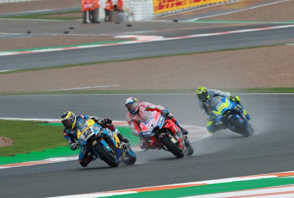 Thomas Luthi, Estrella Galicia 0,0 Marc VDS, Andrea Dovizioso, Ducati Team, Andrea Iannone, Team Suzuki MotoGP.