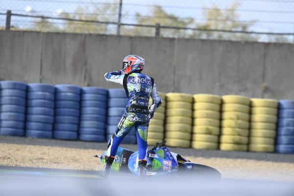 Matteo Ferrari, Trentino Gresini MotoE after the crash.