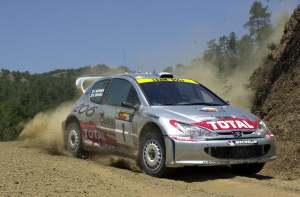 2001 World Rally ChampionshipCyprus Rally June 1-3, 2001Marcus Gronholm on Stage 3Photo: Ralph Hardwick/LAT