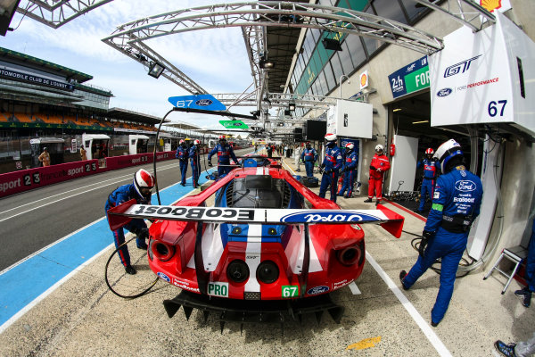 2017 Le Mans 24 Hours Test day, Le Mans, France. 4th June 2017. #67 Ford Chip Ganassi Team UK  Ford GT: Andy Priaulx, Harry Tincknell, Pipo Derani. World Copyright: JEP/LAT Images.