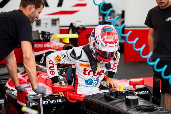 2017 FIA Formula 2 Round 5. Red Bull Ring, Spielberg, Austria. Thursday 6 July 2017. Alexander Albon (THA, ART Grand Prix).  Photo: Zak Mauger/FIA Formula 2. ref: Digital Image _56I0196