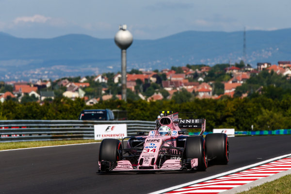 Hungaroring, Budapest, Hungary.  Friday 28 July 2017. Alfonso Celis Jnr, Force India VJM10 Mercedes. World Copyright: Andy Hone/LAT Images  ref: Digital Image _ONY9360