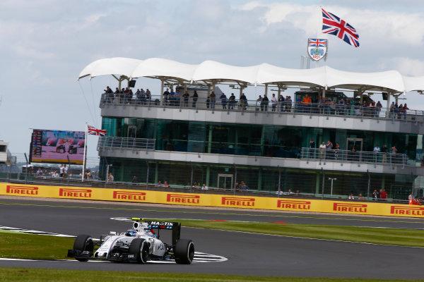 Silverstone, Northamptonshire, UK Friday 8 July 2016. Valtteri Bottas, Williams FW38 Mercedes. World Copyright: Hone/LAT Photographic ref: Digital Image _ONZ9625