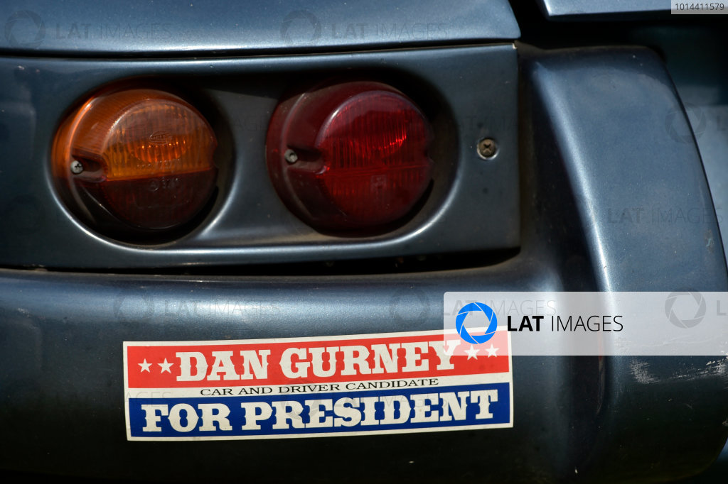 24-25 July, 2015, Lakeville, Connecticut USA Dan Gurney bumper sticker ?2015 Scott R LePage  LAT Photo USA