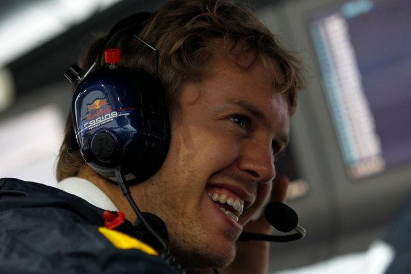 Suzuka Circuit, Suzuka, Japan. 9th October 2010. Sebastian Vettel, Red Bull Racing RB6 Renault. Portrait.  World Copyright: Andrew Ferraro/LAT Photographic ref: Digital Image _Q0C8941