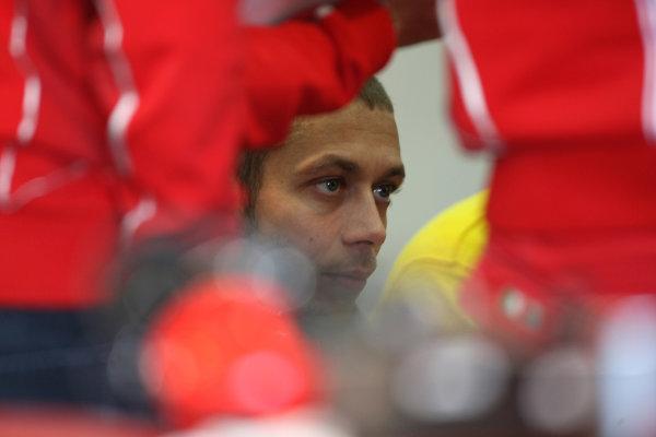 Valencia Test Nov 09-10Valentino Rossi Ducati deep in thought