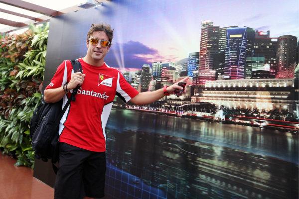 Fernando Alonso (ESP) Ferrari. Formula One World Championship, Rd14, Singapore Grand Prix, Preparations, Marina Bay Street Circuit, Singapore, Thursday 20 September 2012. BEST IMAGE