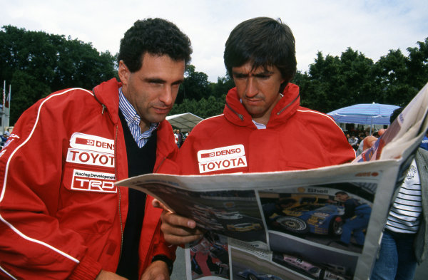 (L to R): Roland Ratzenberger (AUT) Toyota Team SARD and team mate Pierre-Henri Raphanel (FRA).