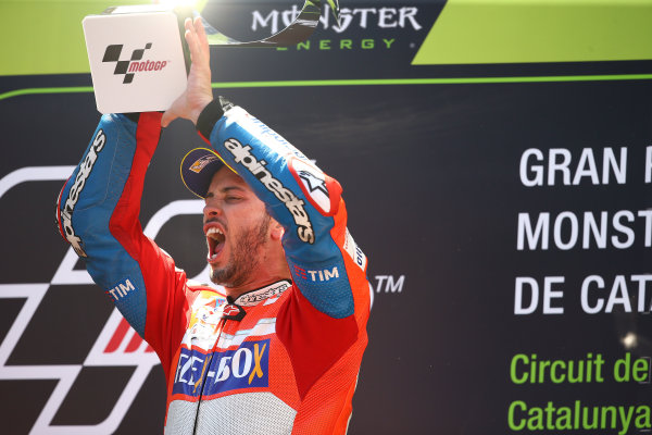 2017 MotoGP Championship - Round 7 Circuit de Catalunya, Barcelona, Spain Sunday 11 June 2017 Race winner Andrea Dovizioso, Ducati Team World Copyright: Gold & Goose Photography/LAT Images ref: Digital Image 677037