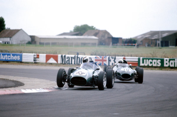 Silverstone, England. 27th June 1981. Rd 2. Gerry Marshall, Aston Martin DBR4, 1st position, action. World Copyright: LAT Photographic.