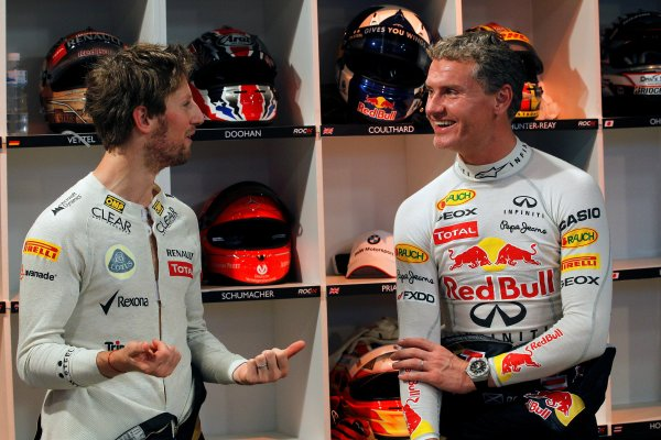 Rajamangala Stadium, Bangkok, Thailand 13th - 16th December 2012 Romain Grosjean with David Coulthard World Copyright: IMP (USAGE FREE FOR EDITORIAL PURPOSES ONLY)