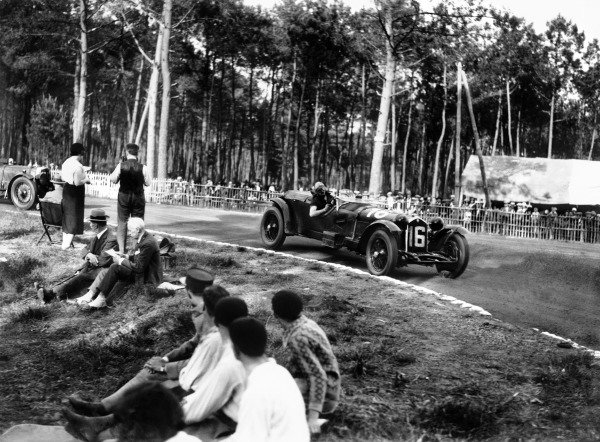 """Le Mans, France. 13-14 June 1931.Lord Howe/Henry """"Tim"""" Birkin (Alfa Romeo 8C 2300), 1st position, action. World Copyright - LAT Photographic.Ref: Autocar Glass Plate B6292."""
