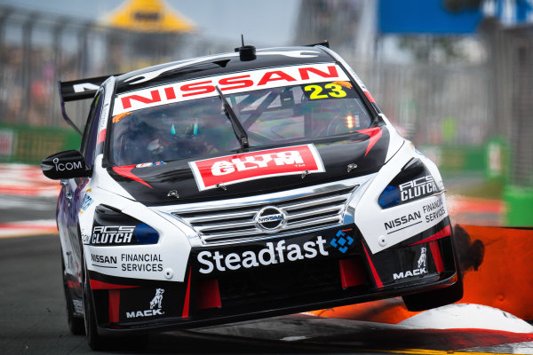 2017 Supercars Championship Round 12.  Gold Coast 600, Surfers Paradise, Queensland, Australia. Friday 20th October to Sunday 22nd October 2017. Michael Caruso, Nissan Motorsport.  World Copyright: Daniel Kalisz/LAT Images Ref: Digital Image 201017_VASCR12_DKIMG_0549.jpg