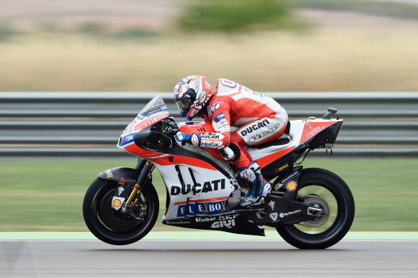 2017 MotoGP Championship - Round 14 Aragon, Spain. Friday 22 September 2017 Andrea Dovizioso, Ducati Team World Copyright: Gold and Goose / LAT Images ref: Digital Image 693678