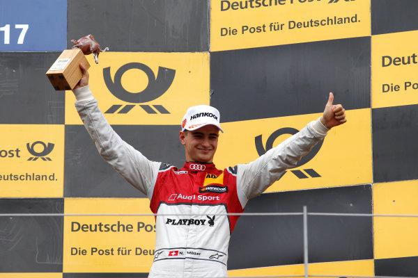 2017 DTM Round 8  Red Bull Ring, Spielberg, Austria  Sunday 24 September 2017. Podium: third place Nico Müller, Audi Sport Team Abt Sportsline, Audi RS 5 DTM  World Copyright: Alexander Trienitz/LAT Images ref: Digital Image 2017-DTM-RBR-AT3-2761