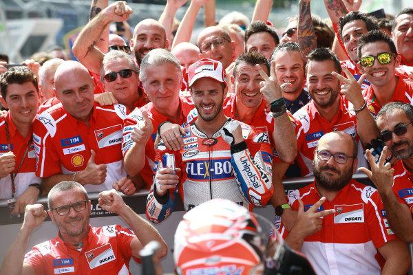 2017 MotoGP Championship - Round 11 Spielberg, Austria Sunday 13 August 2017 Race winnner Andrea Dovizioso, Ducati Team World Copyright: Gold and Goose / LAT Images ref: Digital Image 686855