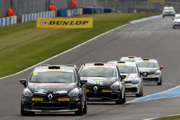2015 Renault Clio Cup, Donington Park, 18th - 19th April 2015 Ashley Sutton (GBR) Team BMR Restart with Pyro Renault Clio Cup  World copyright. Jakob Ebrey/LAT Photographic