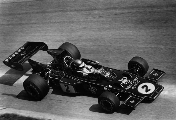 1973 Italian Grand Prix. Monza, Italy. 9th September 1973. Ronnie Peterson (Lotus 72D-Ford Cosworth), 1st position, action. Ref-5734 #35A. World Copyright - LAT Photographic