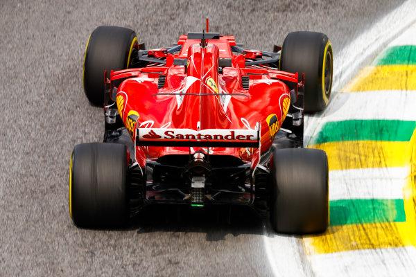 Interlagos, Sao Paulo, Brazil. Friday 10 November 2017. Sebastian Vettel, Ferrari SF70H. World Copyright: Glenn Dunbar/LAT Images  ref: Digital Image _31I9877