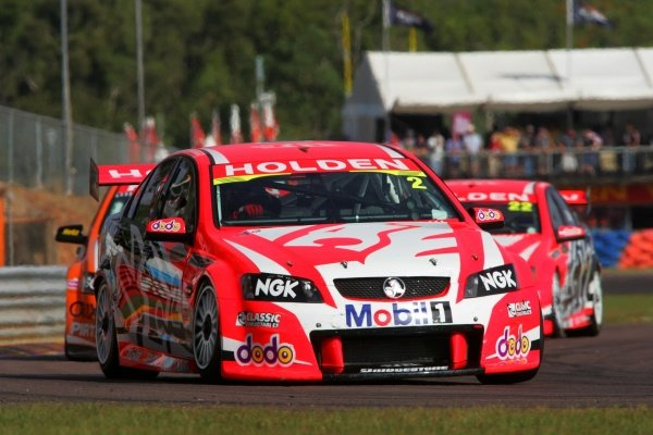 Mark Skaife, (aust) HRT Commodore finished 3rd outright for the round and joins the long list of pole winners not to win the round at Darwin