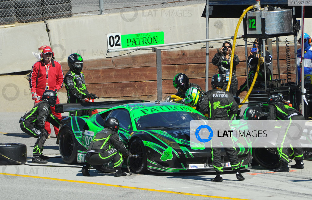 16-18 September, 2011, Monterey, California USA#02 Extreme Speed Motorsports Ferrari F458 Italia pitstop(c)2011,  Dan R. Boyd  LAT Photo USA