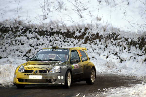 2004 FIA World Rally Champs. Round one, Monte Carlo Rally.22nd-25th January 2004.Nicolas Bernardi, Renault, Action.World Copyright: McKlein/LAT