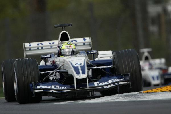 2003 San Marino Grand Prix - Saturday Final Qualifying,Imola, Italy. 19th April 2003 Ralf Schumacher, BMW Williams FW25, action.World Copyright: Steve Etherington/LAT Photographic ref: Digital Image Only