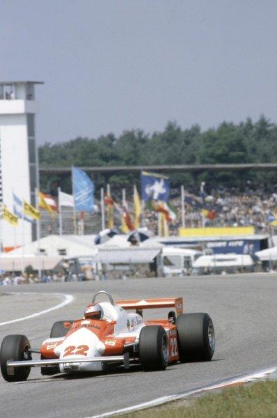 1981 German Grand Prix.Hockenheim, Germany. 31 July-2 August 1981.Mario Andretti (Alfa Romeo 179C), 9th position.World Copyright: LAT PhotographicRef: 35mm transparency 81GER18