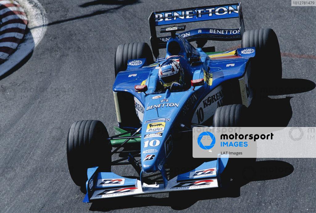 1999 Belgian Grand Prix.Spa-Fracorchamps. 27-29 August 1999.Alexander Wurz (Benetton B199 Playlife).Ref-99 BEL 97.World Copyright - Steven Tee/LAT Photographic