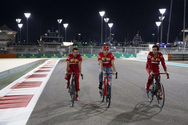 Charles Leclerc, Ferrari, cycles the circuit